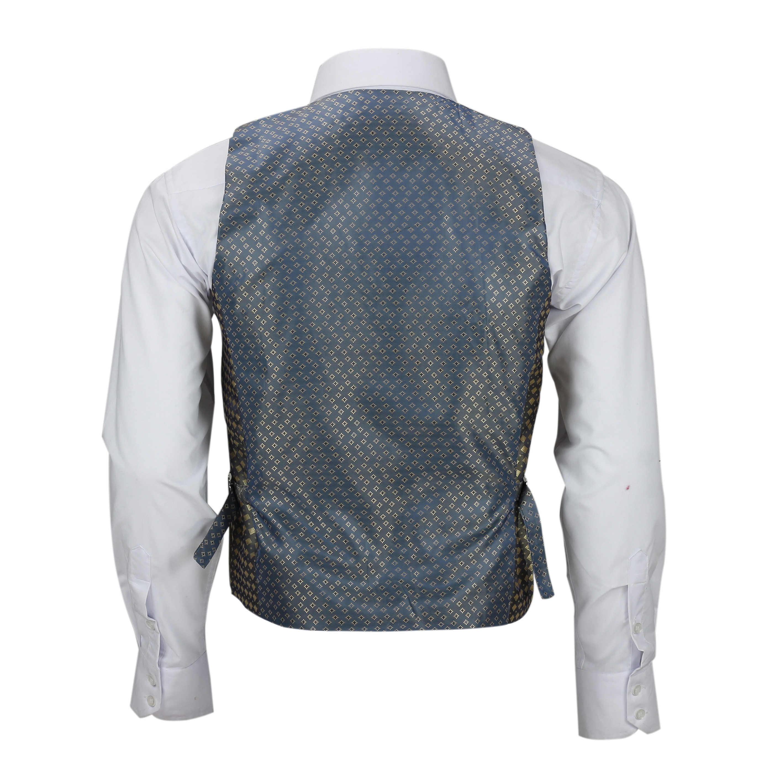 Nuevo-Chaleco-De-Hombre-Retro-Vintage-Marron-Tweed-Espiga-Roble-cheque-Smart-Casual miniatura 34