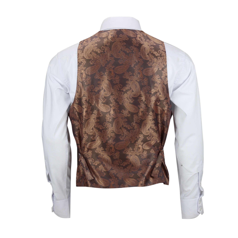 Para-Hombre-Tweed-Marron-Tierra-3-piezas-traje-de-verificacion-se-vende-por-separado-Blazer-Chaleco miniatura 21