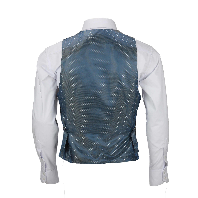 Nuevo-Chaleco-De-Hombre-Retro-Vintage-Marron-Tweed-Espiga-Roble-cheque-Smart-Casual miniatura 38