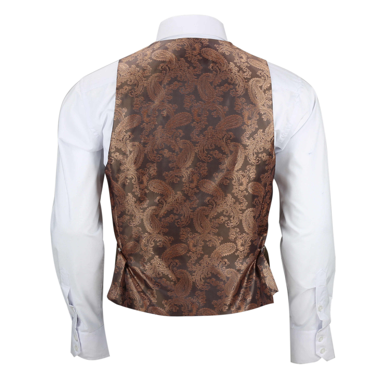 Mens-3-piezas-tan-comprueba-Herringbone-Traje-Blazer-Chaleco-Pantalones-Se-Venden-Por-Separado miniatura 25