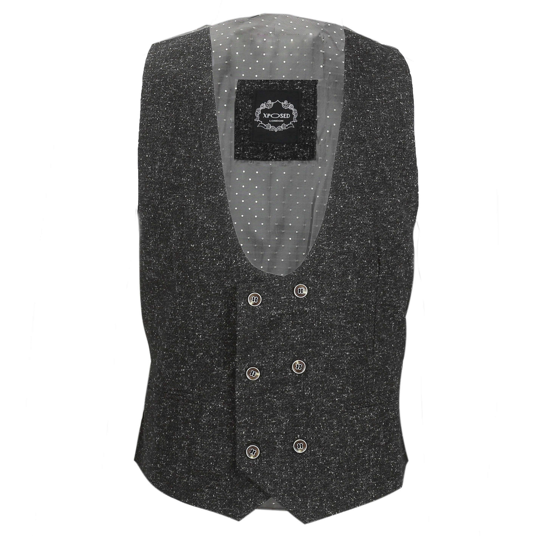 Para-hombre-Traje-de-3-piezas-de-lana-en-gris-se-vende-por-separado-Retro-Blazer-Chaleco-Pantalones miniatura 22
