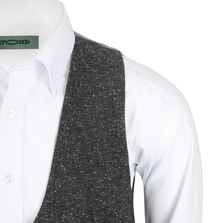 Para-hombre-Traje-de-3-piezas-de-lana-en-gris-se-vende-por-separado-Retro-Blazer-Chaleco-Pantalones miniatura 23