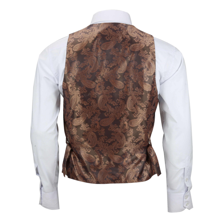 Para-Hombre-Tweed-Marron-Tierra-3-piezas-traje-de-verificacion-se-vende-por-separado-Blazer-Chaleco miniatura 25