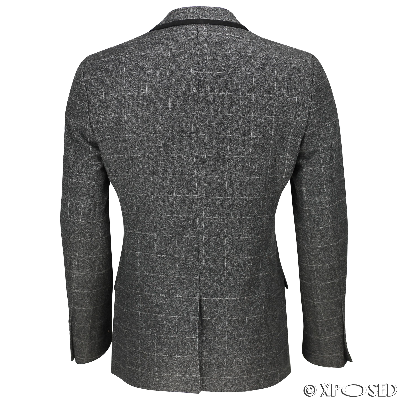 Nuevo-Para-Hombre-Traje-de-3-piezas-de-verificacion-en-gris-se-vende-por-separado-Chaqueta miniatura 5