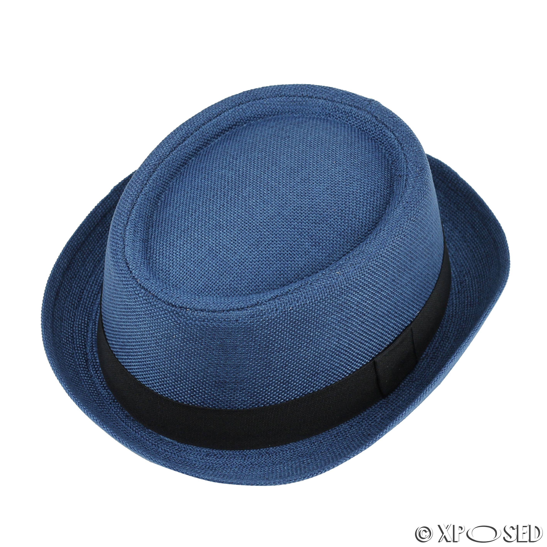 Unisex Mens Women Vintage Crushable Straw Pork Pie Breaking Bad Heisenberg  Hat e15c69df32d1
