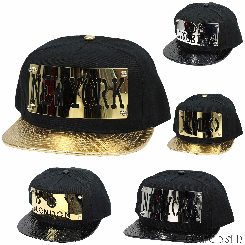 Unisex Mens Bastard Mustache Hip-hop Baseball Cap Snapback Hats Black//Silver