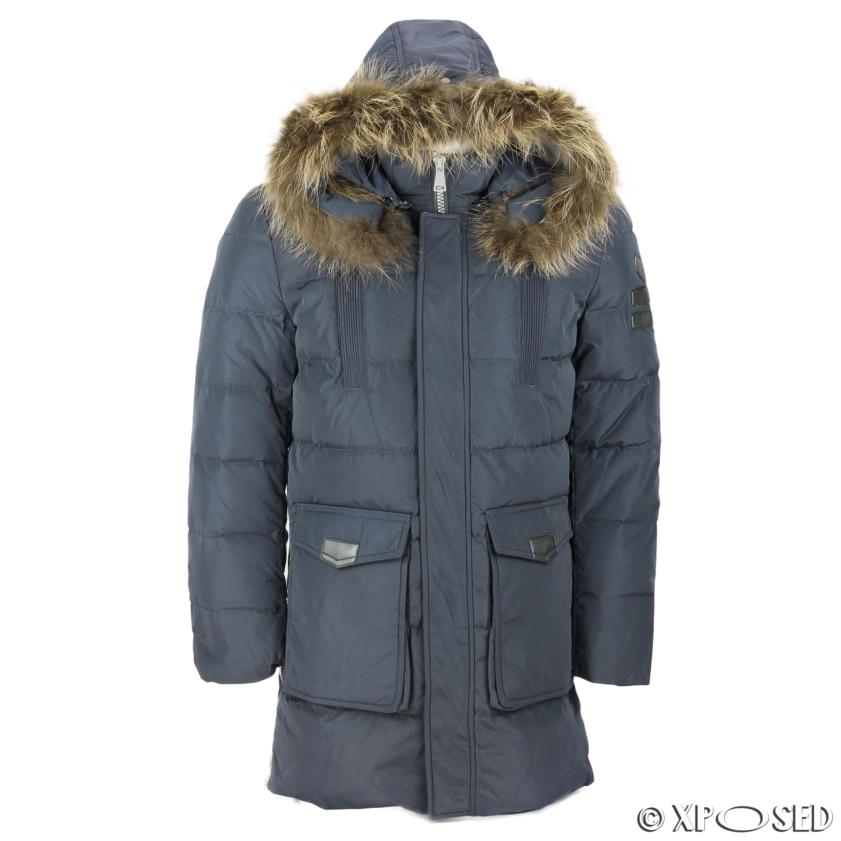 3514c9ce752e New Mens Puffer Padded Fur Hood Down Jacket Winter Warm Parka Coat ...