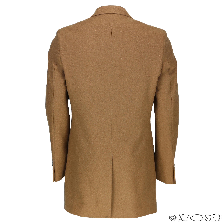 Mens long tweed overcoat