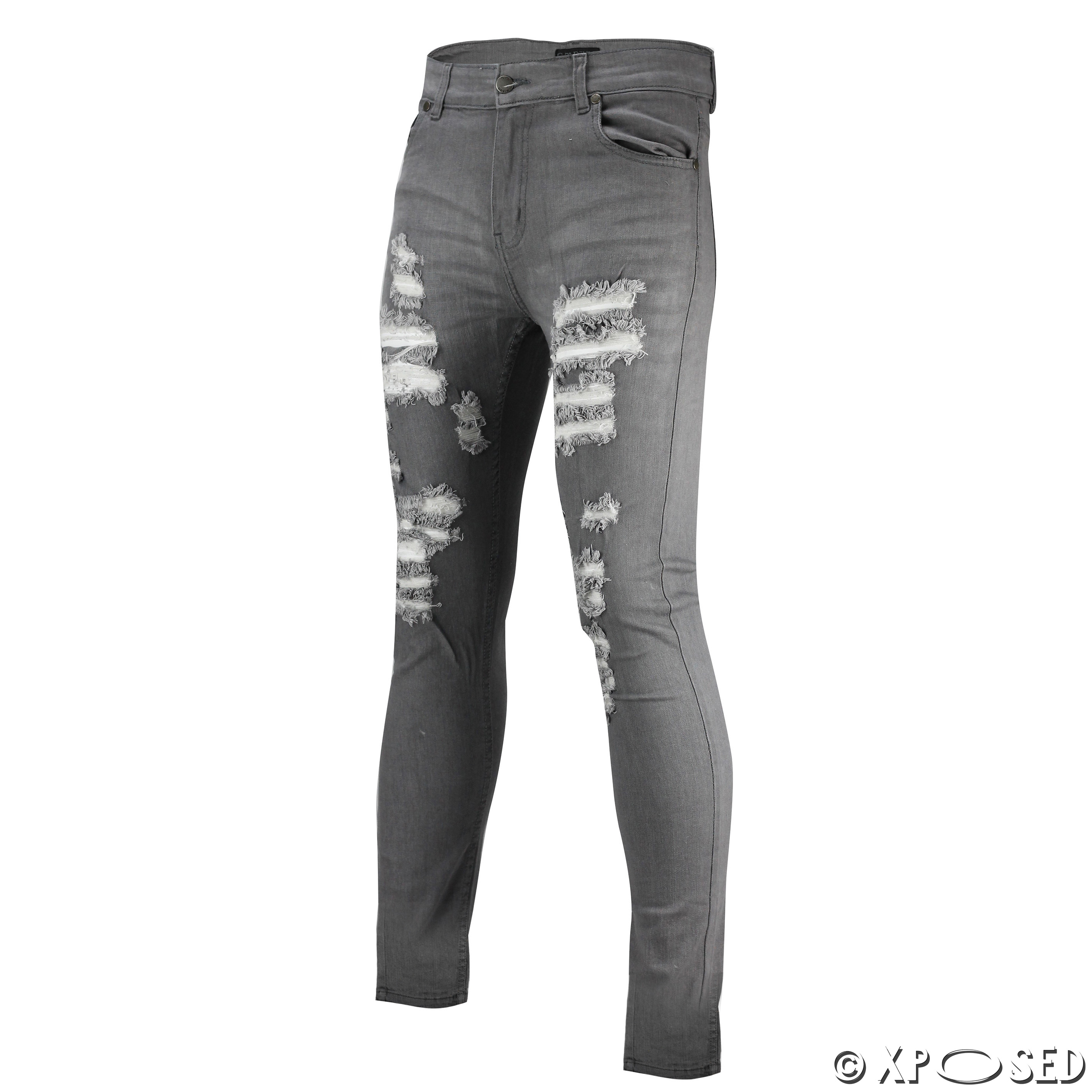 Super skinny jeans with open rips