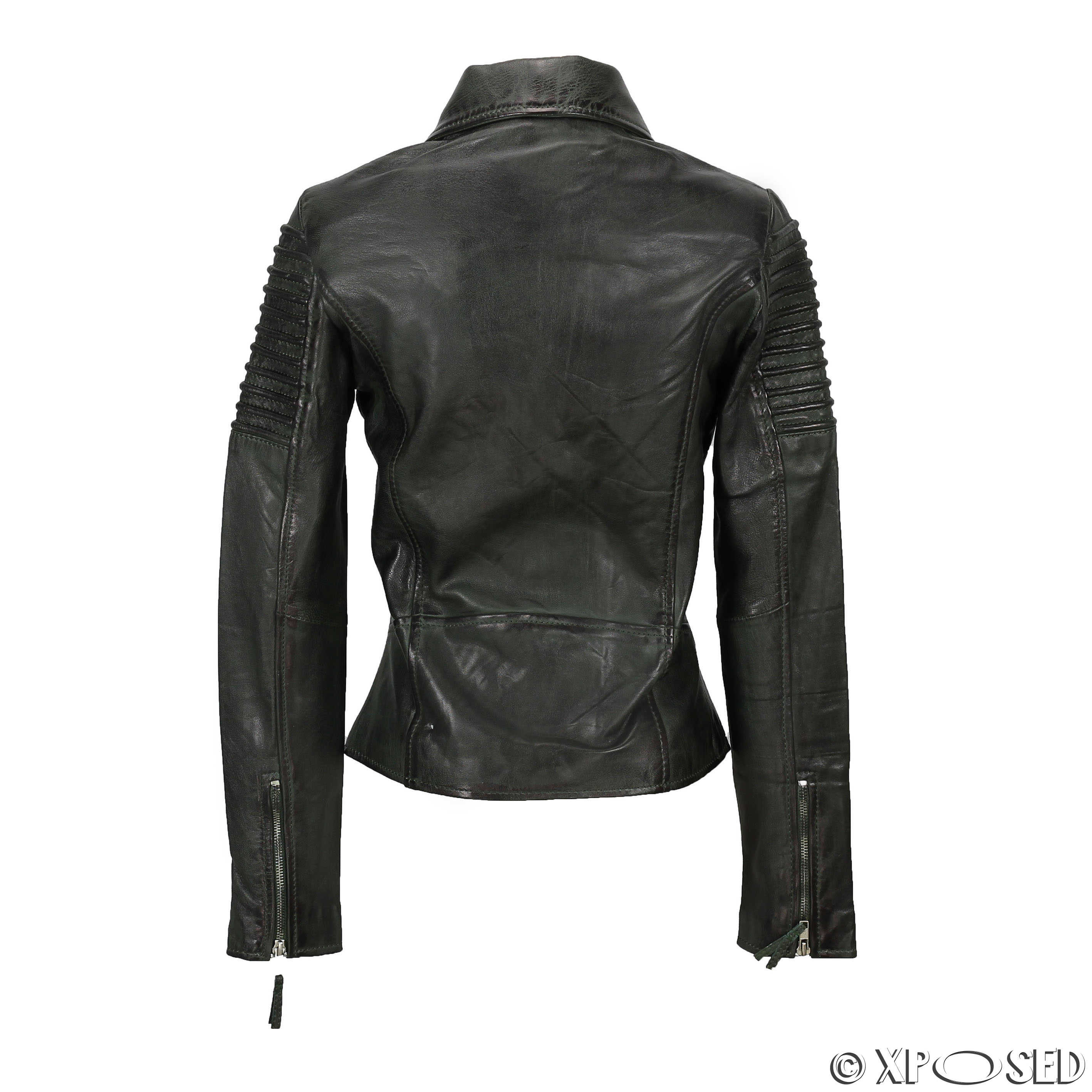 Fitted leather jackets for women