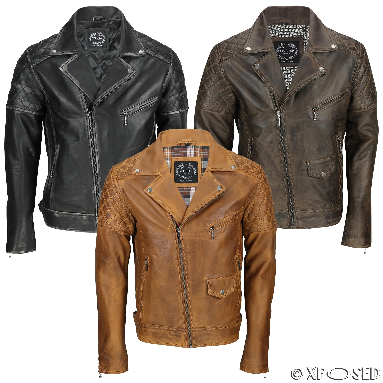 Motorcycle leather jackets ebay