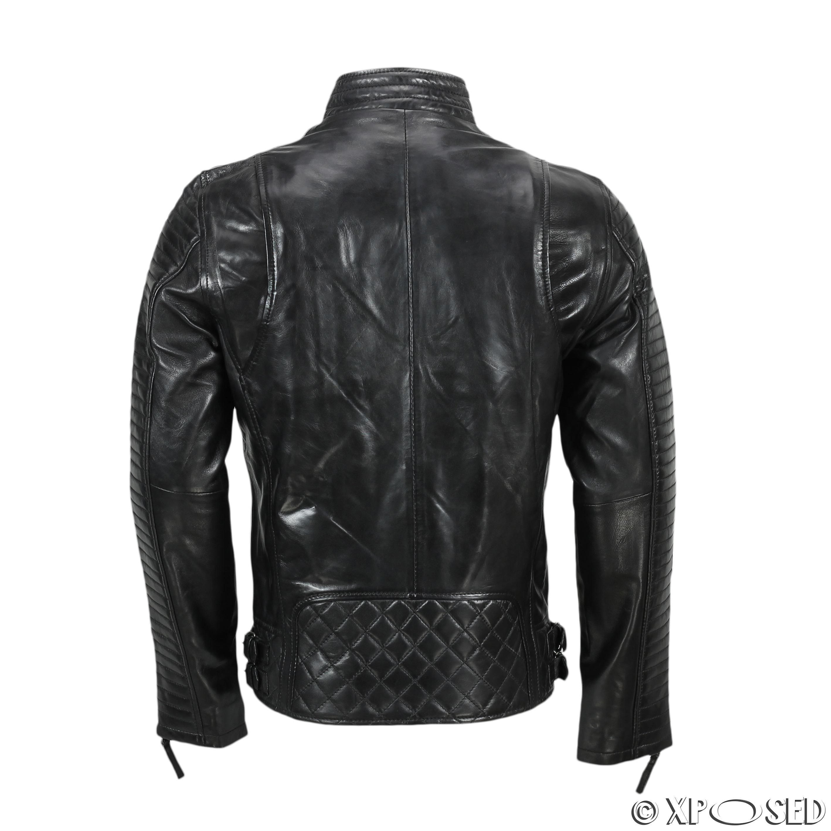 1950s men's fashion leather jacket