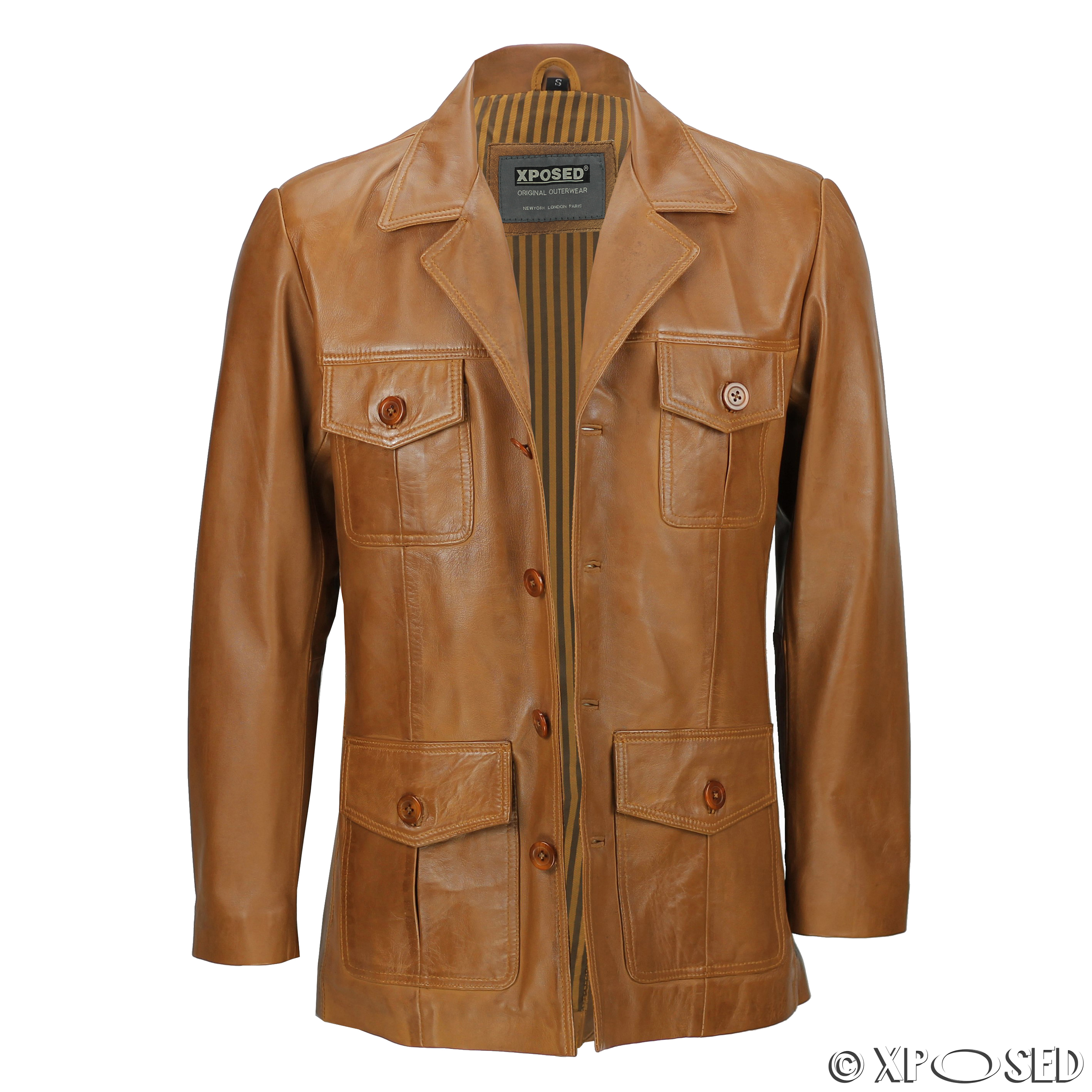 Retro mens leather jackets