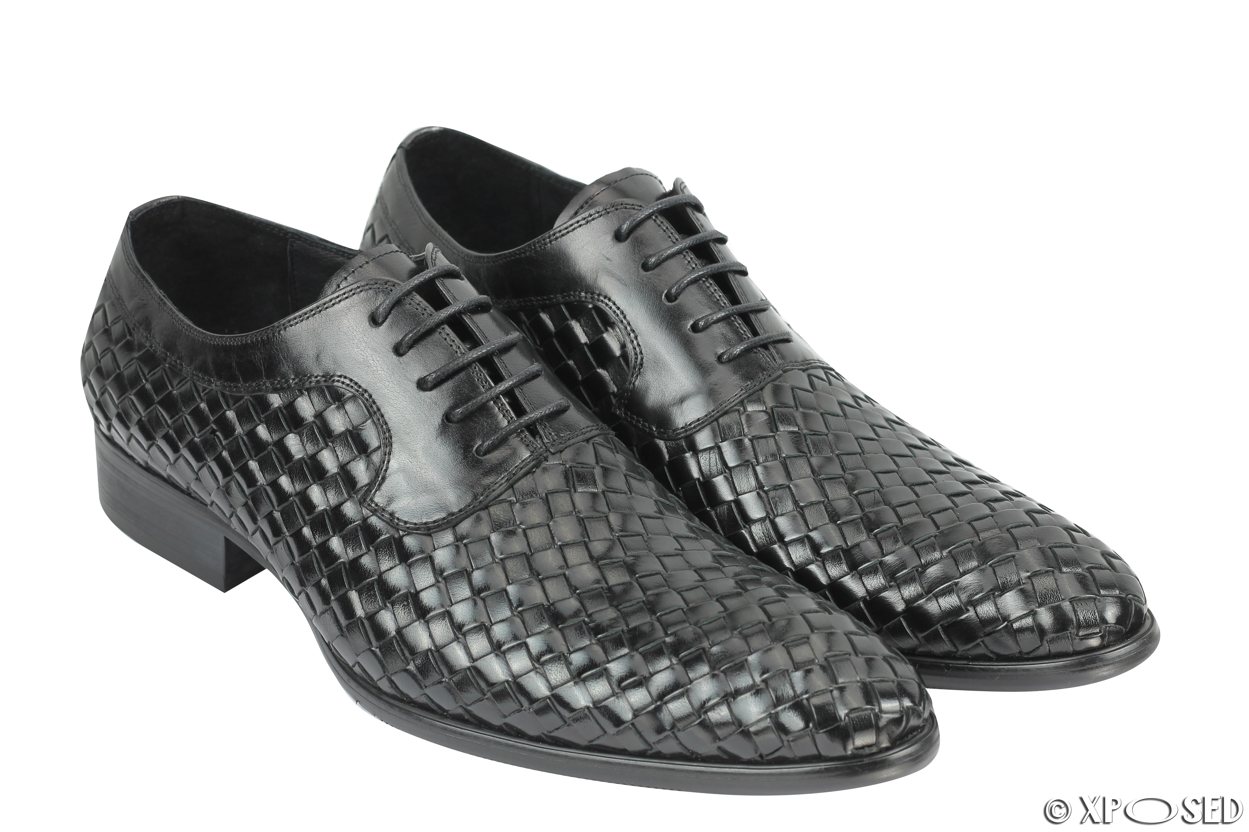 New Mens Woven Leather Shoes Size