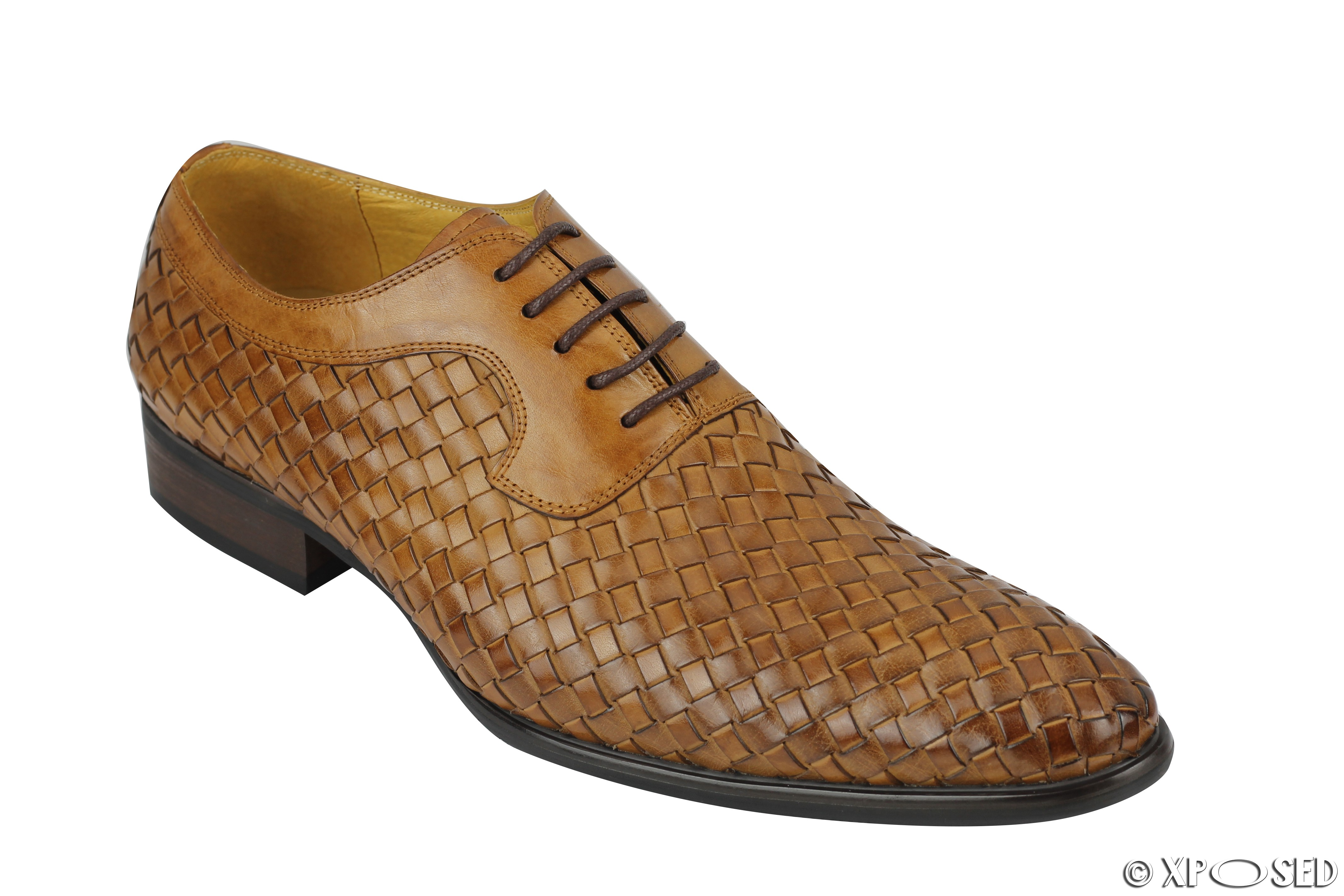 Mens Tan Woven Shoes