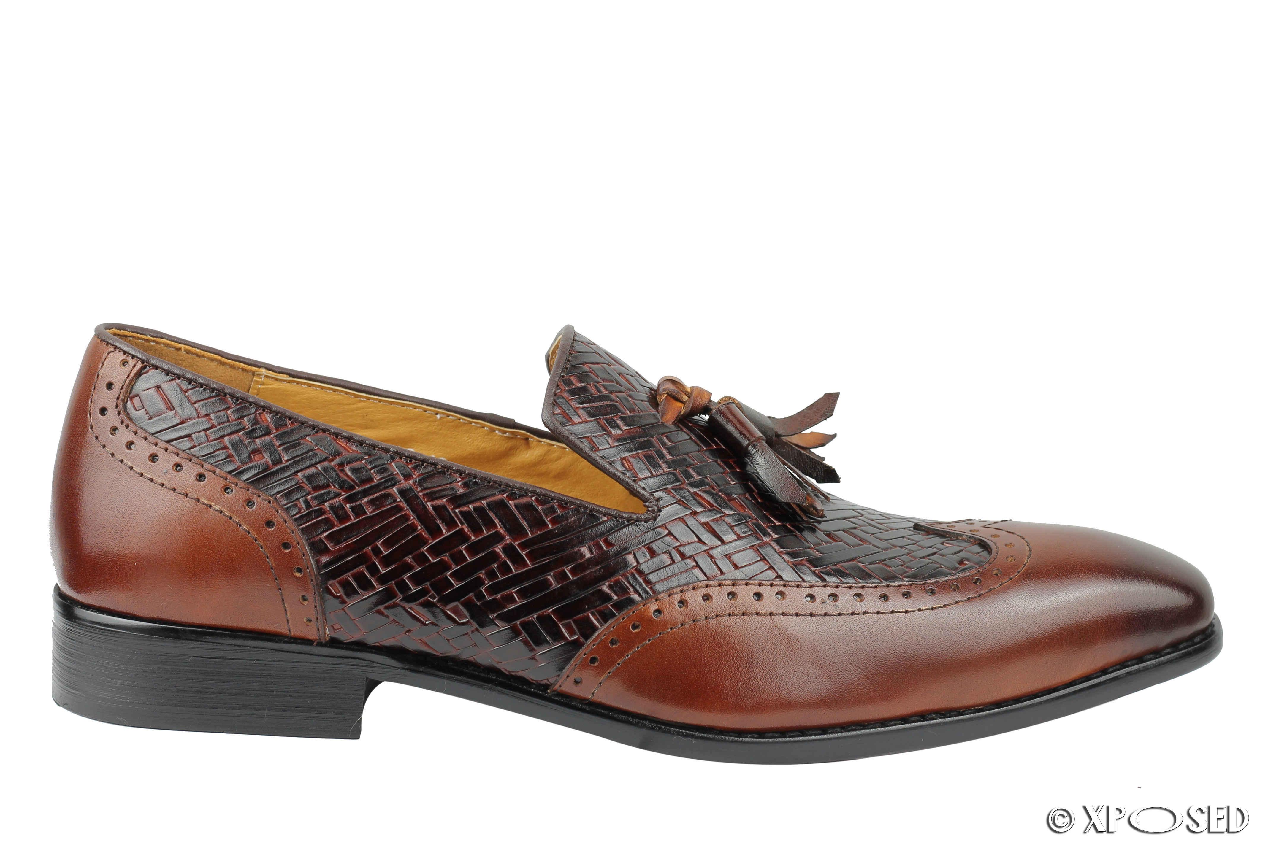 Wingtip Slip On Dress Shoes