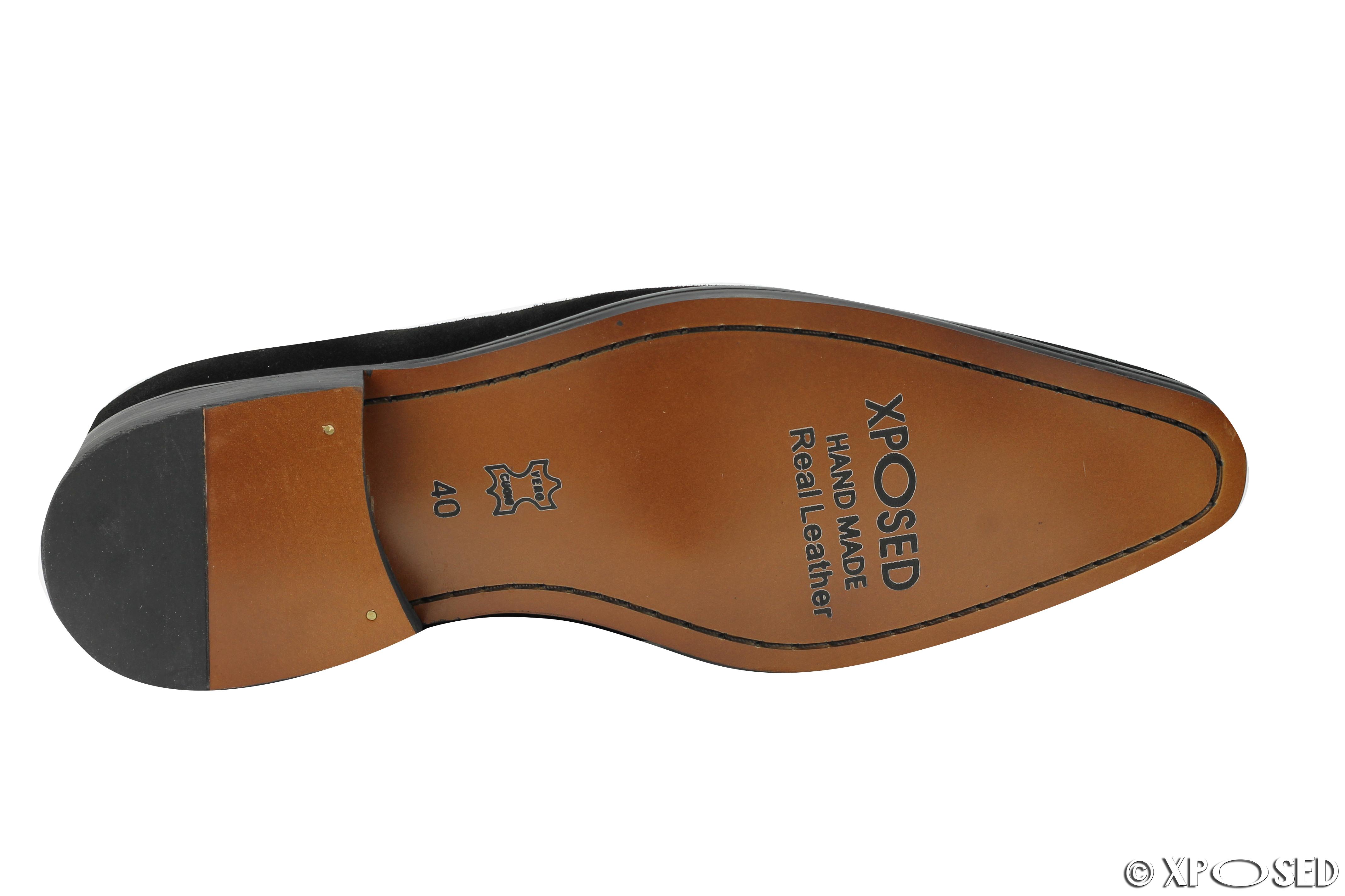1cc6f0941c Mens Real Suede Leather Blue Green Black Slip on Tassel Loafer Vintage Shoes