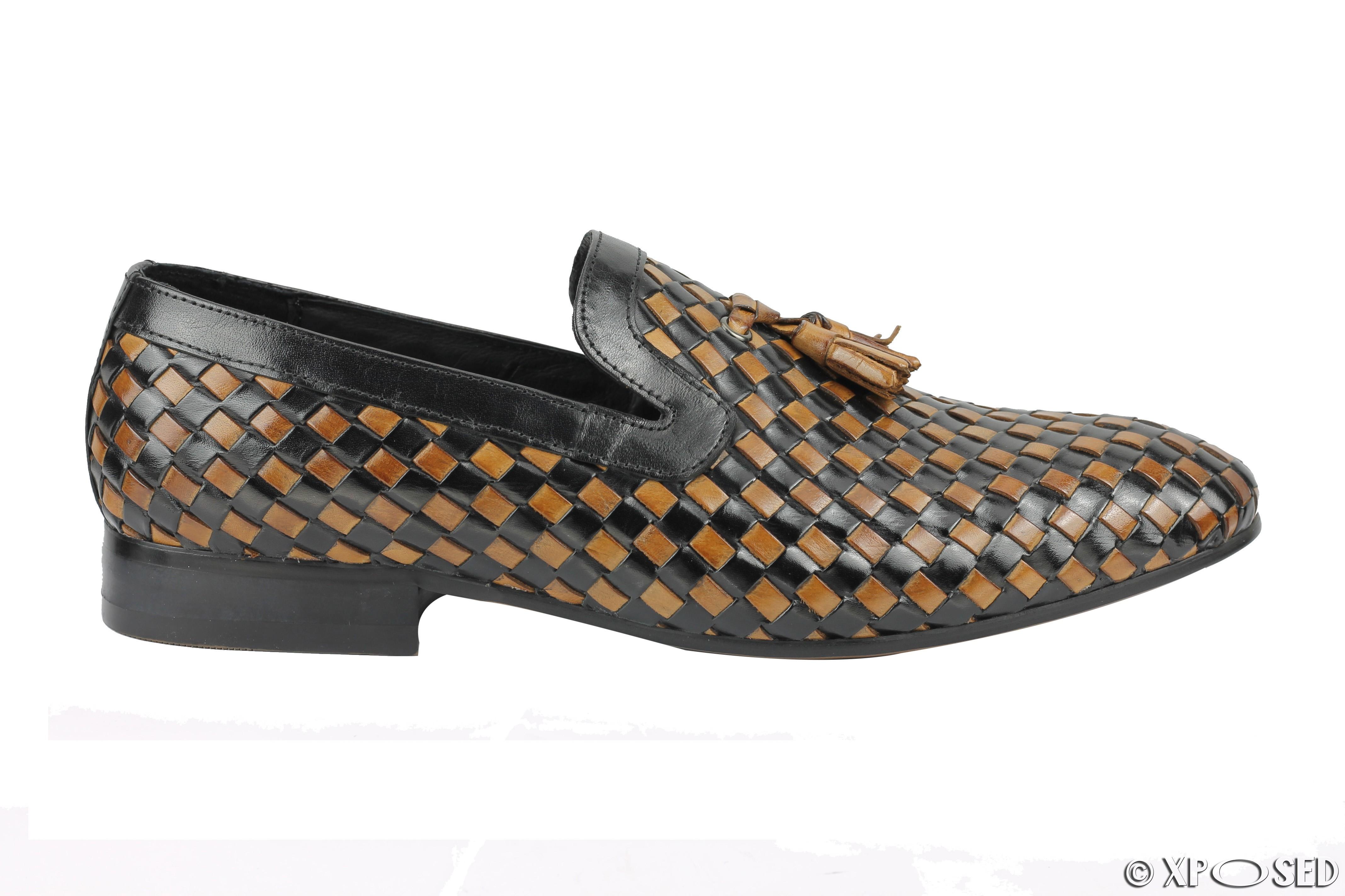 Mens Brown Tassel Loafer Shoes