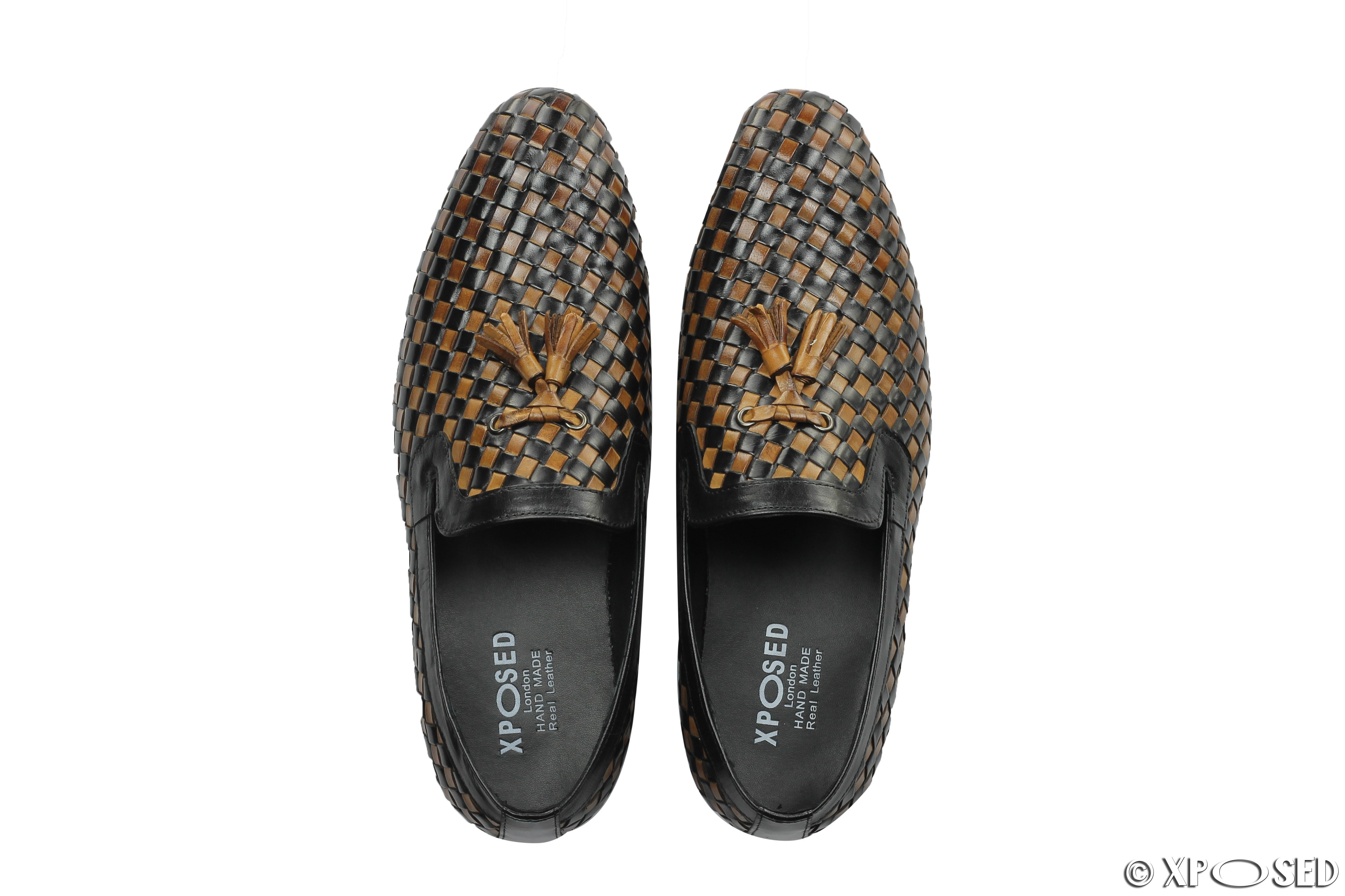 Woven Leather Driving Shoes