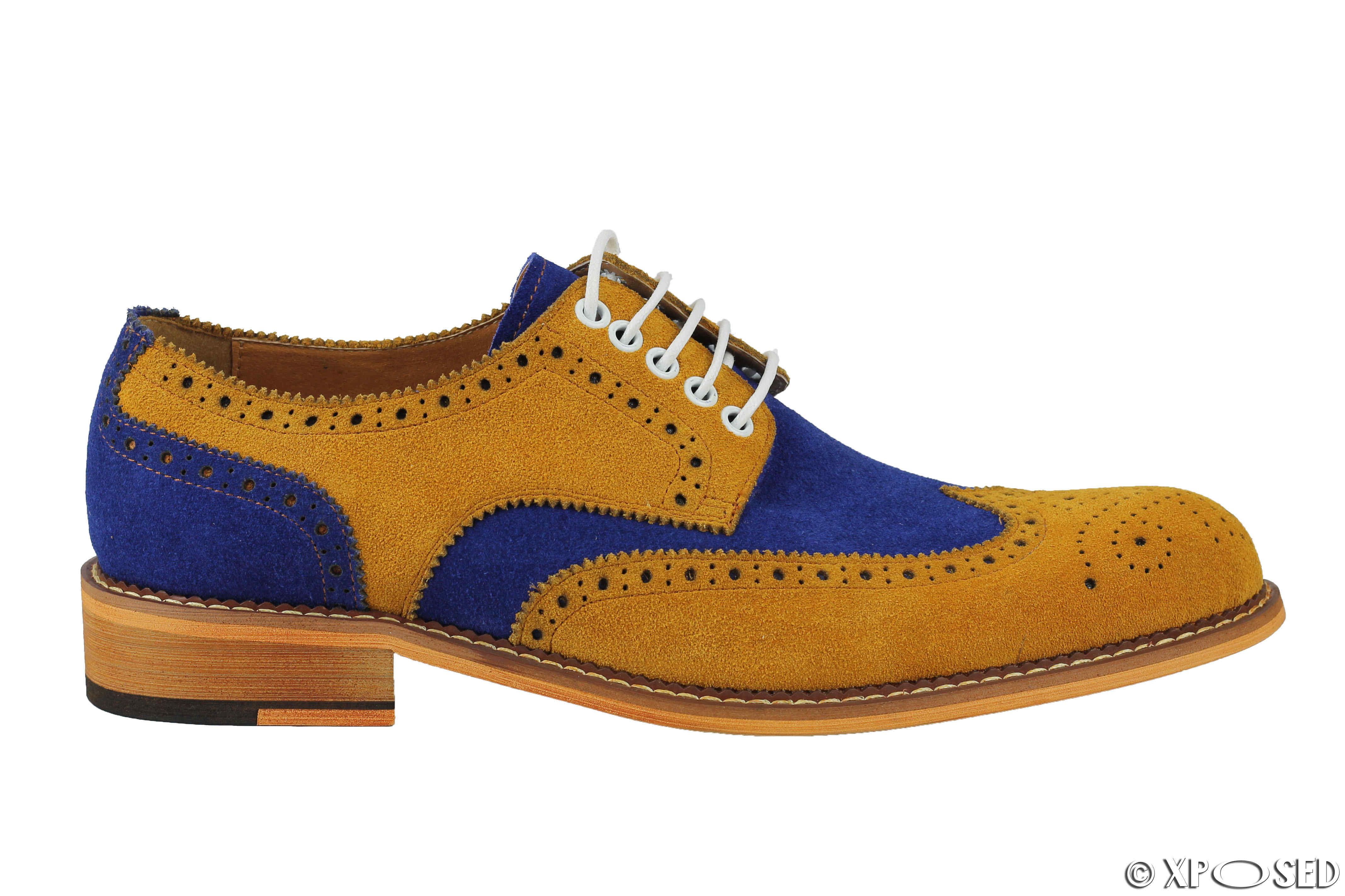 Classic Brogue Suede Shoes Mens