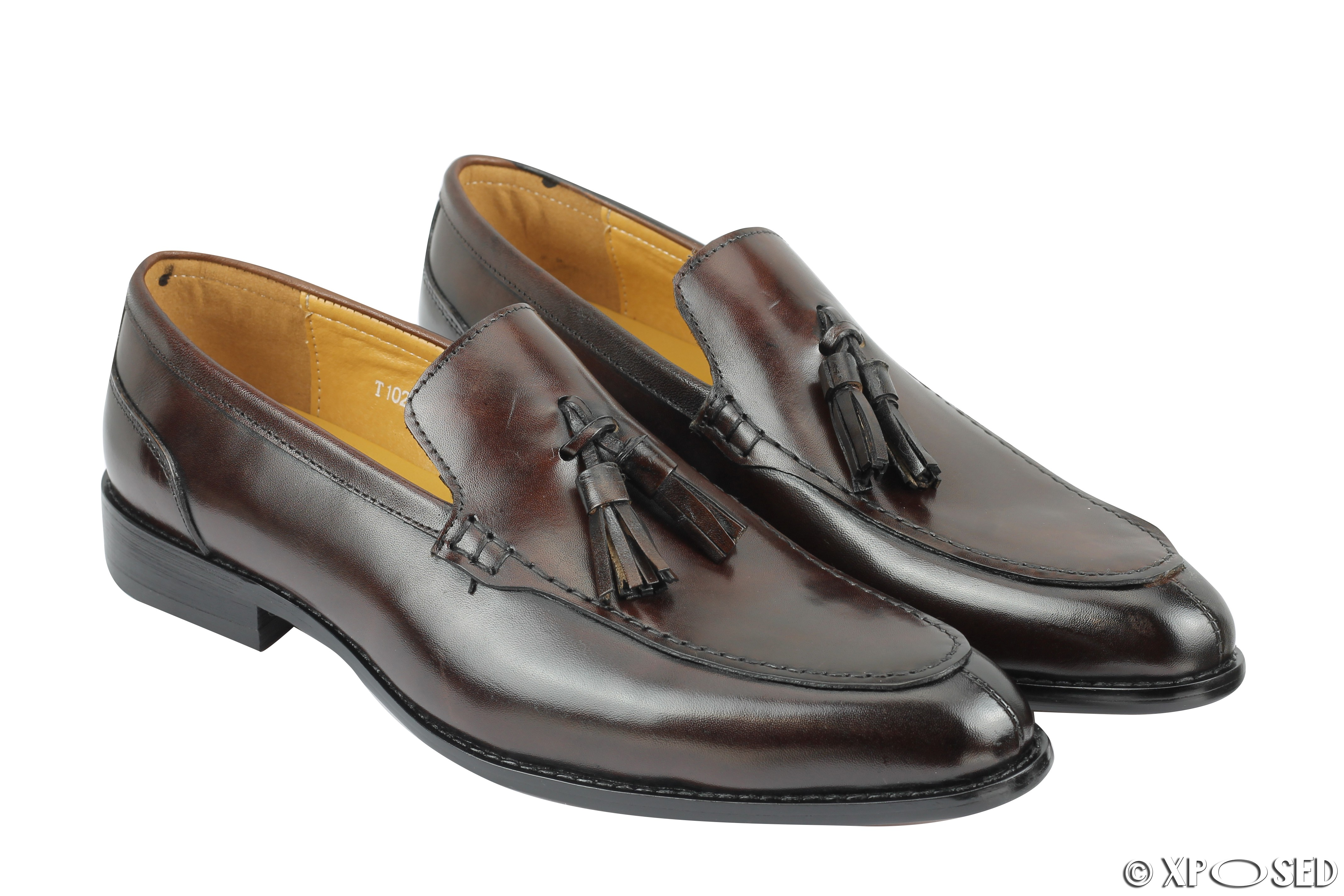 Box Shoes Leather Black And Brown