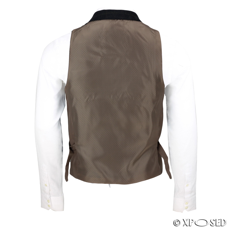 Mens-Azul-Tweed-cheque-3-Piezas-Traje-Chaqueta-Pantalon-Chaleco-se-vende-como-por-separado miniatura 13