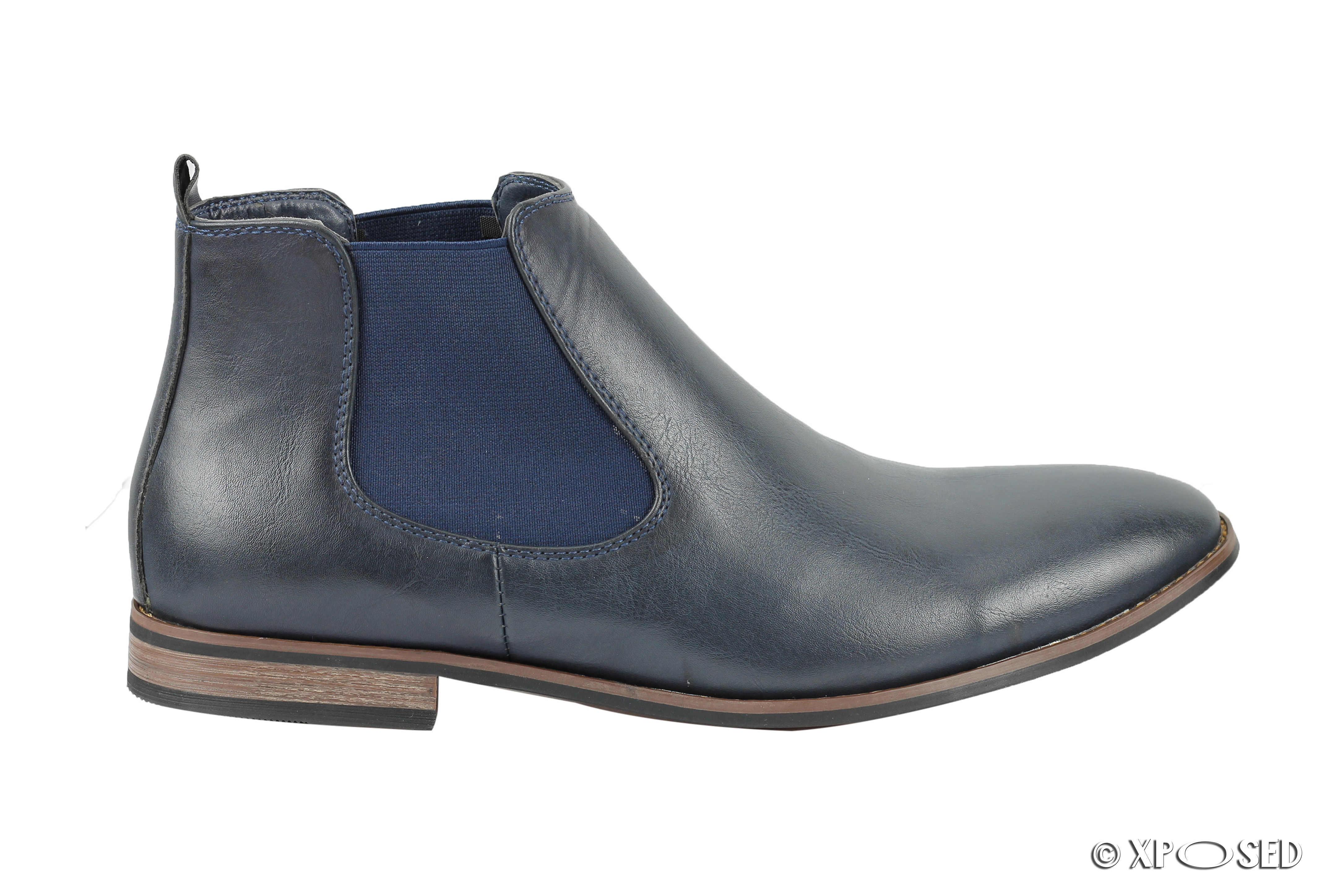 Nuevo Para hombres Cuero Italia Estilo Vintage Chelsea Botas Informales Zapatos de Distribuidor tamaño de Reino Unido