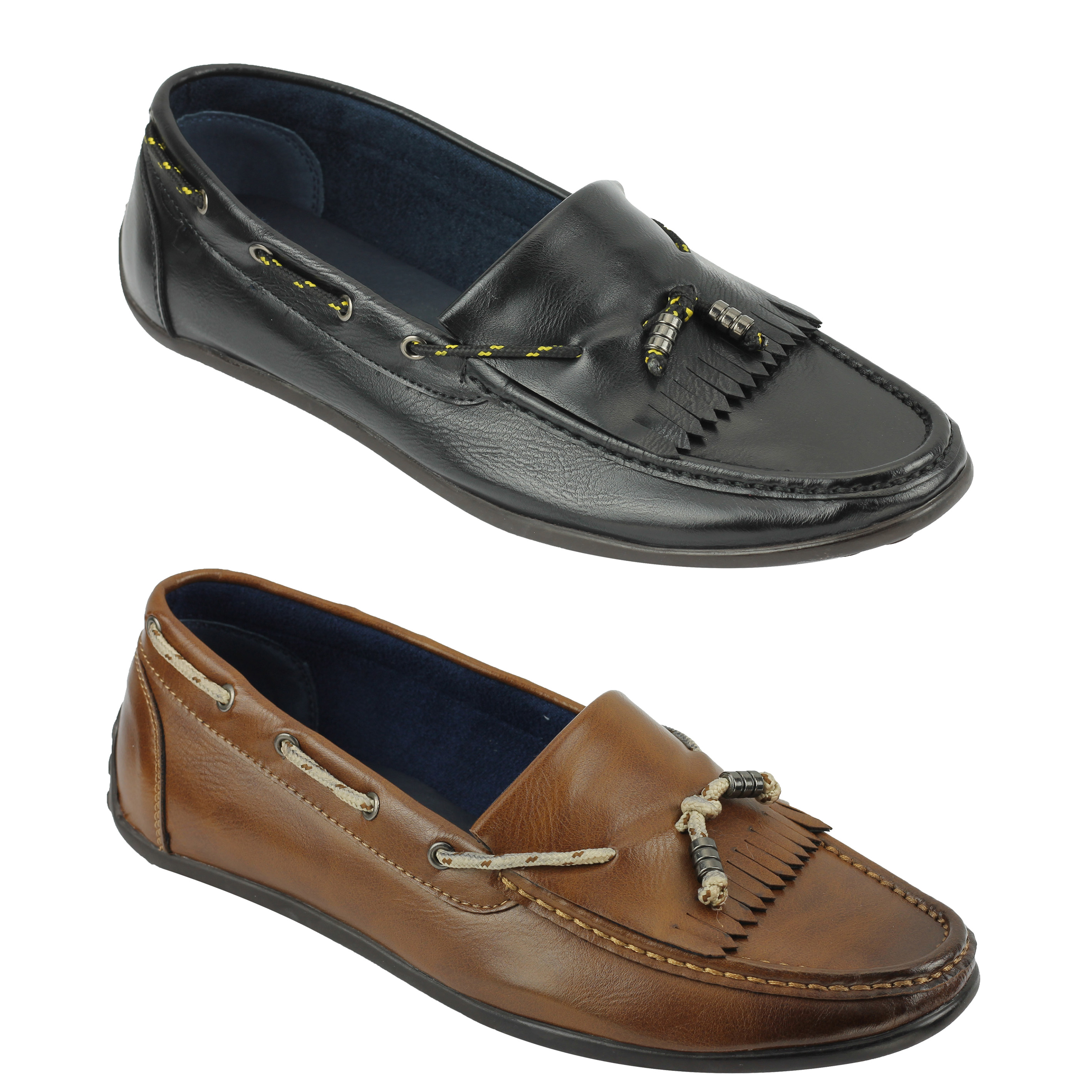 At Classic Black Faux Leather Formal Shoes