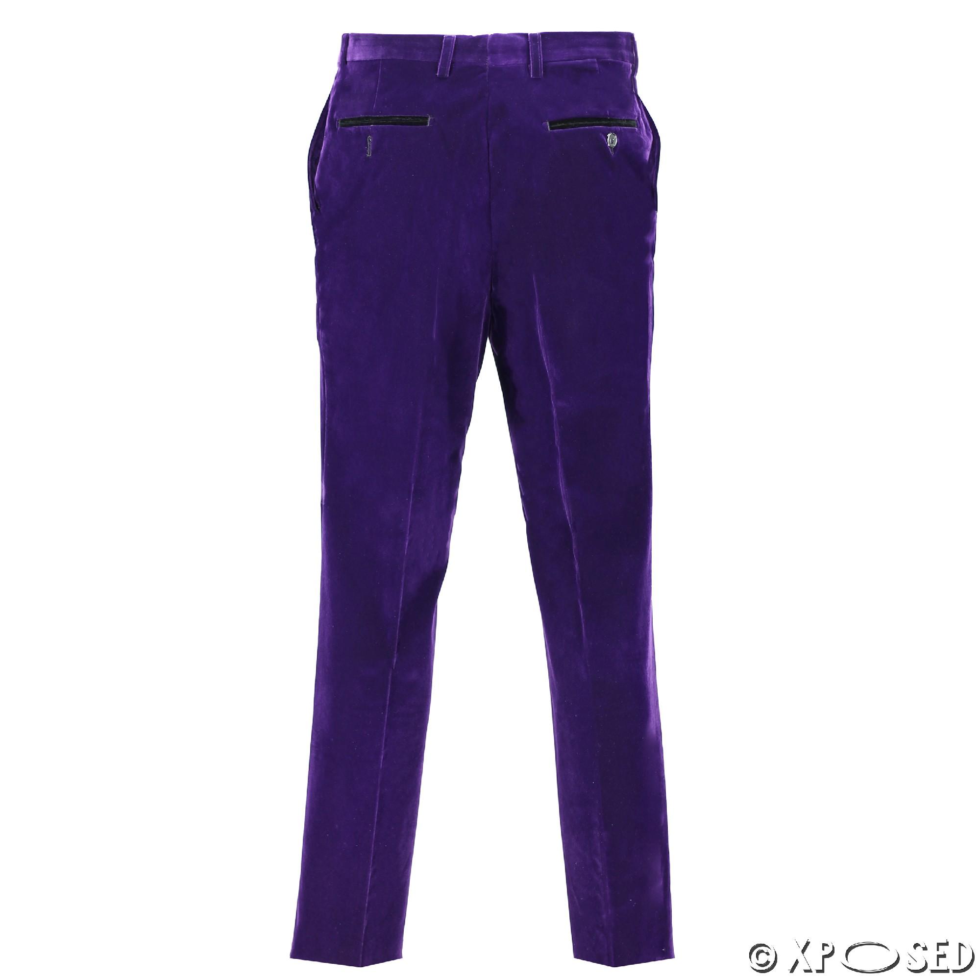 Mens-Purple-Velvet-Vintage-3-Piece-Suit-Tuxedo-Blazer-Coat-Waistcoat-Trouser thumbnail 15
