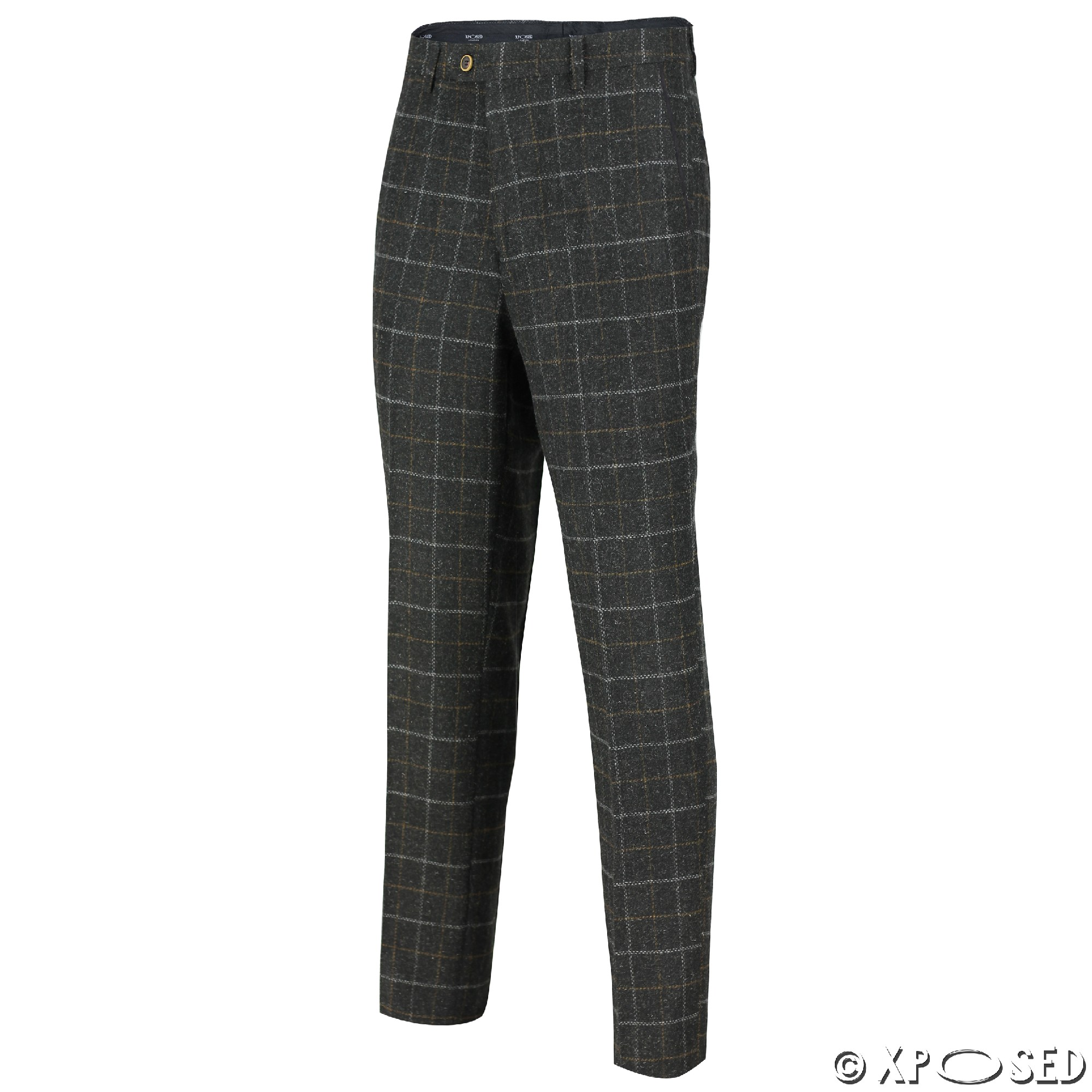 Men's Kristian Tweed Flat Front Trouser $ 00 Prime. Yunjia. Solid Charcoal Classic Vintage Tweed Herringbone Wool Blend Tailored Men Suit 3 Pieces. from $ 65 5 out of 5 stars 2. Rekucci. Women's Secret Figure Pull-On Knit Straight Pant w/Tummy Control $ 39 99 Prime. out of 5 stars