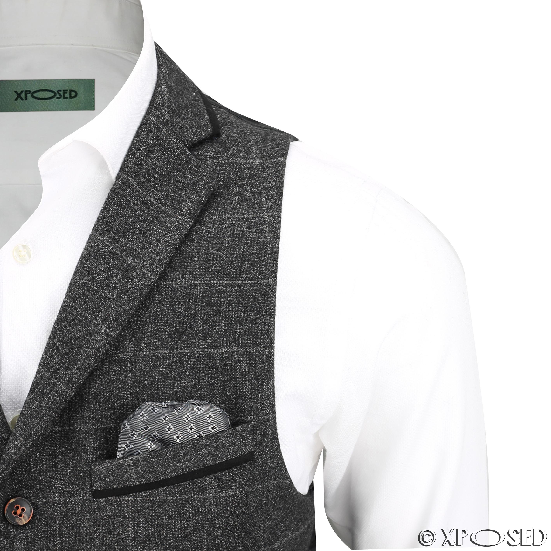 Nuevo-Para-Hombre-Traje-de-3-piezas-de-verificacion-en-gris-se-vende-por-separado-Chaqueta miniatura 14