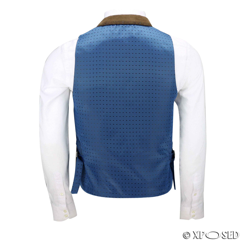 Hombres-Tweed-cheque-3-Piezas-Traje-Chaqueta-Pantalon-Chaleco-se-vende-como-medida-separa miniatura 13