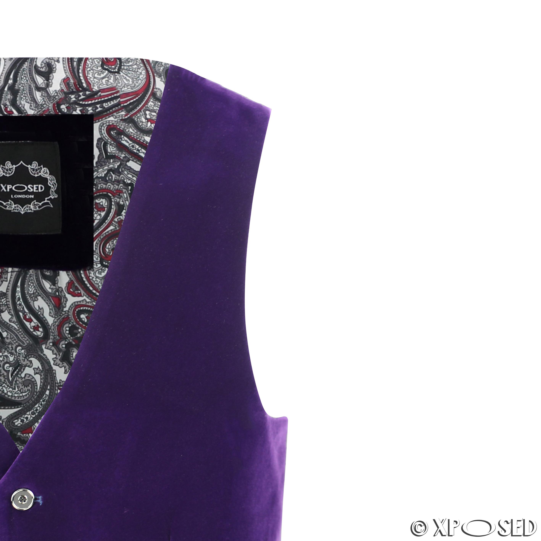 Mens Purple Velvet Vintage 3 Piece Suit Blazer Waistcoat Trouser Sold Separately