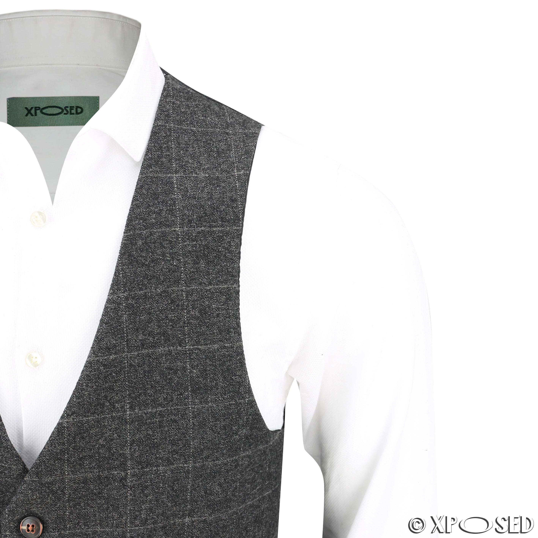 Nuevo-Para-Hombre-Traje-de-3-piezas-de-verificacion-en-gris-se-vende-por-separado-Chaqueta miniatura 19
