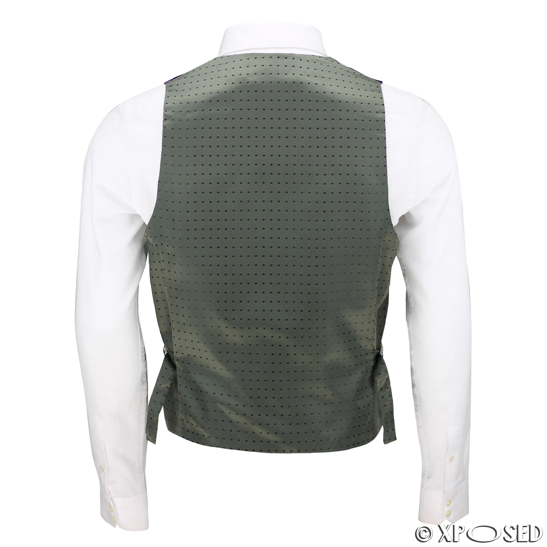 Mens-Purple-Velvet-Vintage-3-Piece-Suit-Tuxedo-Blazer-Coat-Waistcoat-Trouser thumbnail 28